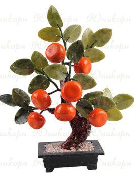 дерево счастья мандарин фэн шуй из камня